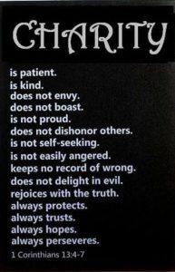 Charity 1 Corinthians 13:4-6